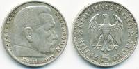 5 Reichsmark 1935 J Drittes Reich Hindenburg ohne Hk - Silber sehr schön  10,00 EUR  +  2,00 EUR shipping
