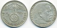 5 Reichsmark 1938 A Drittes Reich Hindenburg mit Hk - Silber sehr schön... 13,00 EUR  zzgl. 1,20 EUR Versand