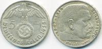5 Reichsmark 1938 D Drittes Reich Hindenburg mit Hk - Silber fast vorzü... 15,00 EUR  zzgl. 1,20 EUR Versand