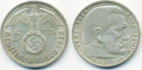 5 Reichsmark 1938 G Drittes Reich Hindenburg mit Hk - Silber sehr schön+  14,00 EUR  zzgl. 1,20 EUR Versand