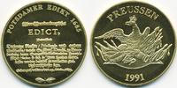 vergoldete Kupfer/Nickel Medaille 1991 BRD Potsdamer Edict 1685 prägefr... 7,00 EUR  +  2,00 EUR shipping