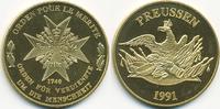 vergoldete Kupfer/Nickel Medaille 1991 BRD Orden Pour Le Merite prägefr... 7,00 EUR  zzgl. 1,20 EUR Versand