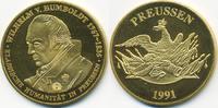 vergoldete Kupfer/Nickel Medaille 1991 BRD Wilhelm von Humboldt prägefr... 7,00 EUR  +  2,00 EUR shipping