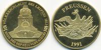 vergoldete Kupfer/Nickel Medaille 1991 BRD Völkerschlacht Leipzig präge... 7,00 EUR  zzgl. 1,20 EUR Versand