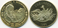vergoldete Kupfer/Nickel Medaille 1991 BRD Karl Fürst von Hardenberg pr... 7,00 EUR  +  2,00 EUR shipping