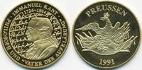 vergoldete Kupfer/Nickel Medaille 1991 BRD Immanuel Kant prägefrisch  7,00 EUR  +  2,00 EUR shipping