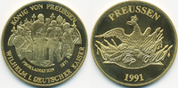 vergoldete Kupfer/Nickel Medaille 1991 BRD Kaiser Proklamation 1871 prä... 7,00 EUR  zzgl. 1,20 EUR Versand