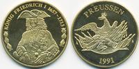 vergoldete Kupfer/Nickel Medaille 1991 BRD König Friedrich I. prägefris... 7,00 EUR  zzgl. 1,20 EUR Versand