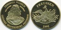 vergoldete Kupfer/Nickel Medaille 1991 BRD Friedrich Wilhelm – Der groß... 7,00 EUR  +  2,00 EUR shipping