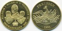 vergoldete Kupfer/Nickel Medaille 1991 BRD Dreikaiser Jahr 1888 prägefr... 7,00 EUR  +  2,00 EUR shipping