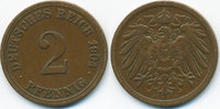2 Pfennig 1904 A Kaiserreich großer Adler - Kupfer fast sehr schön - le... 0,60 EUR  zzgl. 1,20 EUR Versand