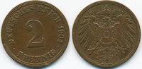 2 Pfennig 1904 A Kaiserreich großer Adler - Kupfer sehr schön  1,00 EUR  zzgl. 1,20 EUR Versand