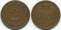 2 Pfennig 1905 A Kaiserreich großer Adler - Kupfer sehr schön - leicht ... 0,80 EUR  zzgl. 1,20 EUR Versand