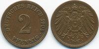 2 Pfennig 1906 A Kaiserreich großer Adler - Kupfer sehr schön+  1,00 EUR  zzgl. 1,20 EUR Versand