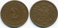 2 Pfennig 1906 E Kaiserreich großer Adler - Kupfer sehr schön - leicht ... 1,40 EUR  zzgl. 1,20 EUR Versand