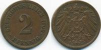 2 Pfennig 1906 E Kaiserreich großer Adler - Kupfer sehr schön+  3,00 EUR  zzgl. 1,20 EUR Versand