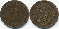 2 Pfennig 1907 E Kaiserreich großer Adler - Kupfer sehr schön+  4,00 EUR  zzgl. 1,20 EUR Versand