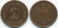 2 Pfennig 1911 A Kaiserreich großer Adler - Kupfer sehr schön/vorzüglic... 1,50 EUR  zzgl. 1,20 EUR Versand