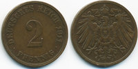 2 Pfennig 1911 J Kaiserreich großer Adler - Kupfer sehr schön  1,80 EUR  zzgl. 1,20 EUR Versand