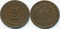 2 Pfennig 1912 A Kaiserreich großer Adler - Kupfer sehr schön - leicht ... 0,60 EUR  zzgl. 1,20 EUR Versand