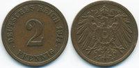 2 Pfennig 1914 F Kaiserreich großer Adler - Kupfer sehr schön+  48,00 EUR  zzgl. 3,80 EUR Versand