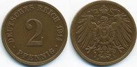 2 Pfennig 1914 J Kaiserreich großer Adler - Kupfer sehr schön/vorzüglic... 7,50 EUR  zzgl. 1,20 EUR Versand