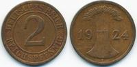 2 Reichspfennig 1924 E Weimarer Republik großer Adler - Kupfer sehr sch... 1,40 EUR  zzgl. 1,20 EUR Versand