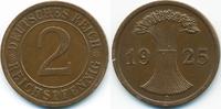 2 Reichspfennig 1925 A Weimarer Republik großer Adler - Kupfer vorzügli... 2,00 EUR  zzgl. 1,20 EUR Versand