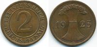 2 Reichspfennig 1925 E Weimarer Republik großer Adler - Kupfer vorzügli... 3,50 EUR  zzgl. 1,20 EUR Versand