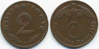 2 Reichspfennig 1938 D Drittes Reich Kupfer sehr schön+ - etwas schwach... 1,00 EUR  +  2,00 EUR shipping