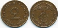 2 Reichspfennig 1939 A Drittes Reich Kupfer fast vorzüglich  1,50 EUR  zzgl. 1,20 EUR Versand