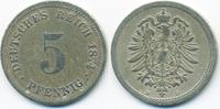 5 Pfennig 1874 D Kaiserreich kleiner Adler - Kupfer/Nickel schön+ - etw... 2,80 EUR  +  2,00 EUR shipping