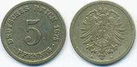 5 Pfennig 1875 B Kaiserreich kleiner Adler - Kupfer/Nickel schön/sehr s... 1,80 EUR  +  2,00 EUR shipping