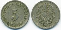 5 Pfennig 1875 F Kaiserreich kleiner Adler - Kupfer/Nickel fast sehr sc... 2,00 EUR  zzgl. 1,20 EUR Versand