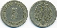 5 Pfennig 1876 F Kaiserreich kleiner Adler - Kupfer/Nickel schön/sehr s... 2,50 EUR  +  2,00 EUR shipping