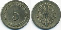 5 Pfennig 1876 G Kaiserreich kleiner Adler - Kupfer/Nickel schön/sehr s... 2,50 EUR  zzgl. 1,20 EUR Versand