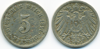 5 Pfennig 1891 F Kaiserreich großer Adler - Kupfer/Nickel fast sehr sch... 5,00 EUR  zzgl. 1,20 EUR Versand
