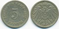 5 Pfennig 1892 A Kaiserreich großer Adler - Kupfer/Nickel sehr schön  1,80 EUR  zzgl. 1,20 EUR Versand