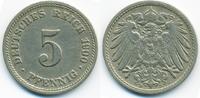 5 Pfennig 1900 D Kaiserreich großer Adler - Kupfer/Nickel sehr schön+  2,40 EUR  +  2,00 EUR shipping