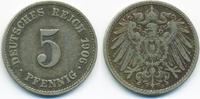 5 Pfennig 1906 J Kaiserreich großer Adler - Kupfer/Nickel sehr schön  1,20 EUR  zzgl. 1,20 EUR Versand