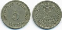 5 Pfennig 1907 E Kaiserreich großer Adler - Kupfer/Nickel sehr schön  1,80 EUR  zzgl. 1,20 EUR Versand