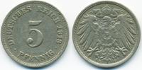 5 Pfennig 1913 F Kaiserreich großer Adler - Kupfer/Nickel sehr schön  0,80 EUR  zzgl. 1,20 EUR Versand