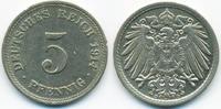 5 Pfennig 1914 D Kaiserreich großer Adler - Kupfer/Nickel fast vorzügli... 2,00 EUR  zzgl. 1,20 EUR Versand