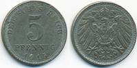 5 Pfennig 1915 A Ersatzmünze 1.WK Eisen prägefrisch - etwas schwache Pr... 7,00 EUR  zzgl. 1,20 EUR Versand
