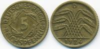 5 Reichspfennig 1924 D Weimarer Republik Kupfer/Aluminium sehr schön+ -... 1,40 EUR  zzgl. 1,20 EUR Versand