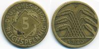 5 Reichspfennig 1925 F Weimarer Republik Kupfer/Aluminium - kleine 5 se... 0,60 EUR  zzgl. 1,20 EUR Versand