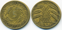 5 Reichspfennig 1926 A Weimarer Republik Kupfer/Aluminium gutes sehr sc... 0,80 EUR  +  2,00 EUR shipping