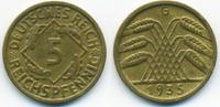 5 Reichspfennig 1935 G Weimarer Republik Kupfer/Aluminium sehr schön/vo... 3,00 EUR  zzgl. 1,20 EUR Versand