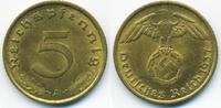 5 Reichspfennig 1937 A Drittes Reich Kupfer/Aluminium vorzüglich  2,80 EUR  zzgl. 1,20 EUR Versand