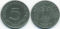 5 Reichspfennig 1940 A Drittes Reich Zink sehr schön/vorzüglich  1,40 EUR  zzgl. 1,20 EUR Versand